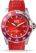 Tutti Milano TM900RE- Horloge -  42.5 mm - Rood - Collectie Corallo