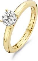 Blush Ring 1121YZI -  Geel Goud (14Krt.) met Zirconia