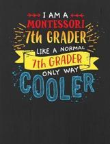 Montessori 7th Grade Notebook - Black - 7.44 x 9.69 150 pages