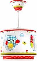 Dalber Owls - Hanglamp - Wit, Rood