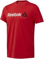 Reebok QQR Linear Read Heren Sportshirt - Motor Red - Maat S