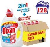 Dixan Gel 2in1 wasmiddel - 128 wasbeurten - Kwartaalverpakking