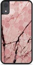 iPhone Xr Hardcase hoesje Pink Marble