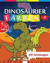Dinosaurier f�rben 4 - Nachtausgabe: Malbuch f�r Kinder von 4 bis 12 Jahren - 25 Zeichnungen - Band 4