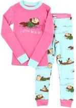 Kinderpyjama LazyOne Otter Be Kids met bedrukte broek - 98
