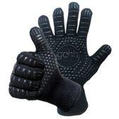2 BBQ handschoenen (gemaakt van Aramide en Kevlar) beschermt tot 500 graden Celsius (EN407 gecertificeerd) Extra lang voor betere bescherming - Anti slip - Barbecue, Koken, Haardhout
