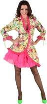 Hippie Kostuum | Tropische Bloemen Jas Vrouw | XXL | Carnaval kostuum | Verkleedkleding