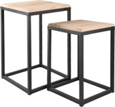 Clayre & Eef Bijzettafel (2) 36x36x52 cm / 31x31x42 cm