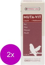 Versele-Laga Oropharma Muta-Vit Liquid Rui&Methionine - Vogelsupplement - 2 x 30 ml