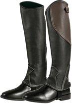 PFIFF-minichaps  tweekleurig XL Zwart-bruin