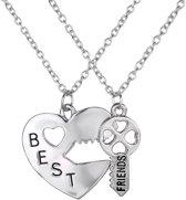 Fako Bijoux® - Vriendschapsketting - Best Friends - Hart & Sleutel