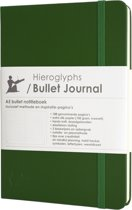 Hieroglyphs Bullet Journal - 100 grams papier - harde kaft - met Handleiding en Inspiratie - Nederlands - groen