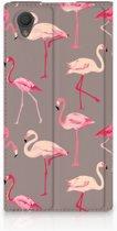 Sony Xperia L1 Uniek Standcase Hoesje Flamingo