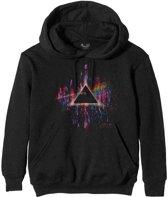 Pink Floyd - Dark Side Of The Moon Pink Splatter unisex hoodie trui met capuchon zwart - M