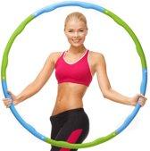 Weight hoop Original - Fitness Hoelahoep - Met DVD - 1.2 kg - Ø 100 cm - Blauw/Groen