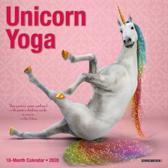 Unicorn Yoga 2020 Mini Wall Calendar