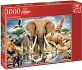Puzzel Dieren uit Africa1000 stukjes Jumbo