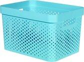 Curver Infinity Box Dots - 17L - L 35,6 x B 26,6 x H21,8 cm - Blauw