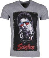 Mascherano T-shirt - Scarface - Grijs - Maat: M