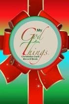 My God Things Christmas Card Record Book