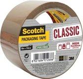 Scotch Verpakkingstape, Klassiek, Individueel Verpakt, Bruin, 50 mm x 50 m