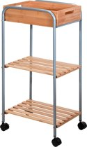 Badkamertrolley bamboe / metaal