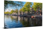 De Prinsengracht in het centrum van Amsterdam Aluminium 60x40 cm - Foto print op Aluminium (metaal wanddecoratie)