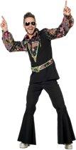 Hippie blouse zwart - pink man Maat 50