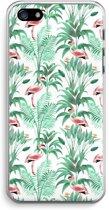 iPhone 5 / 5S / SE Transparant Hoesje (Soft) - Flamingo bladeren