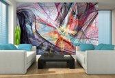 Fotobehang Vlies | Abstract | Paars, Zwart | 368x254cm (bxh)