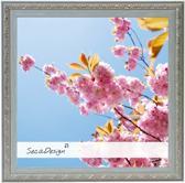 SecaDesign Fleur Fotolijst - Fotomaat 20x20 cm - Blauwgrijs / Zilver