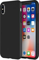 Mat zwart back cover Apple iPhone X/Xs hoesje