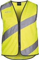 Wowow Roadie Reflectievest met Led op rugzijde Fietsshirt - Maat M  - Unisex - geel/zwart/zilver