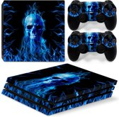 Fire Skull - PS4 Pro Console Skins PlayStation Stickers