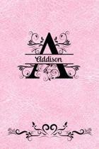 Split Letter Personalized Journal - Addison