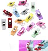 Wonder clips: Knijpen en vasthouden, kleine knijpertjes - vervanging voor spelden voor naaien - 50x gemengd