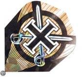 Harrows darts Flight 1612 hologram sworded cross