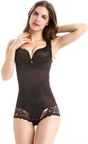 Shapewear met push up | Figuurcorrigerend ondergoed body | Correctie ondergoed buik | Zwart, Maat XL