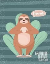 Gratitude Journal for Kids Boy