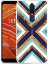 Nokia 3.1 Plus Hoesje Wood Art