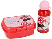 Minnie mouse broodtrommel en drinkfles