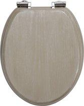 Allibert wc-bril AMAZONE - Massief hout - soft close - verchroomde zamak scharnieren - Es molina
