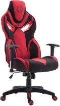 Clp Racing bureaustoel FANGIO gaming chair - Stof - Zwart/rood