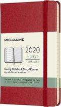 Moleskine 12 Maanden Agenda 2020 - Wekelijks - Pocket (9x14 cm) - Scarlet Red - Harde Kaft