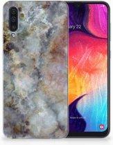 TPU Siliconen Backcase Samsung Galaxy A50 Design Marmer Grijs