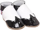 babyslofjes broque white black Maat: L (142 cm)