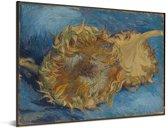 Zonnebloemen - Schilderij van Vincent van Gogh Aluminium 40x30 cm - klein - Foto print op Aluminium (metaal wanddecoratie)