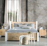 Livengo steigerhouten bed Pura 140 cm x 200 cm