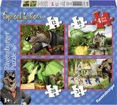 Ravensburger Je vriendjes uit de Efteling 4-in-1 puzzel