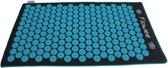Flowee spijkermat – luxe eco variant – Grijs/blauw met kokosvulling